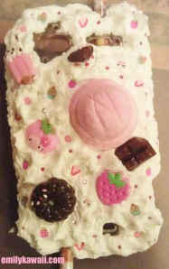 Back of my sweet/whipped cream decoden no flash so you can see the details