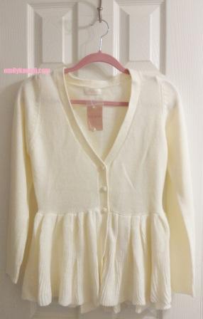 Liz Lisa cream white cardigan