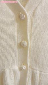 Liz Lisa cardigan details pearl rose buttons