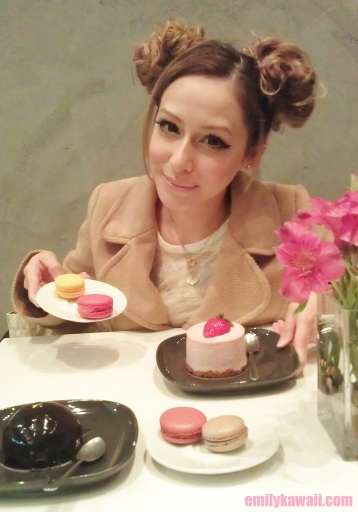 Me with my yummy desserts